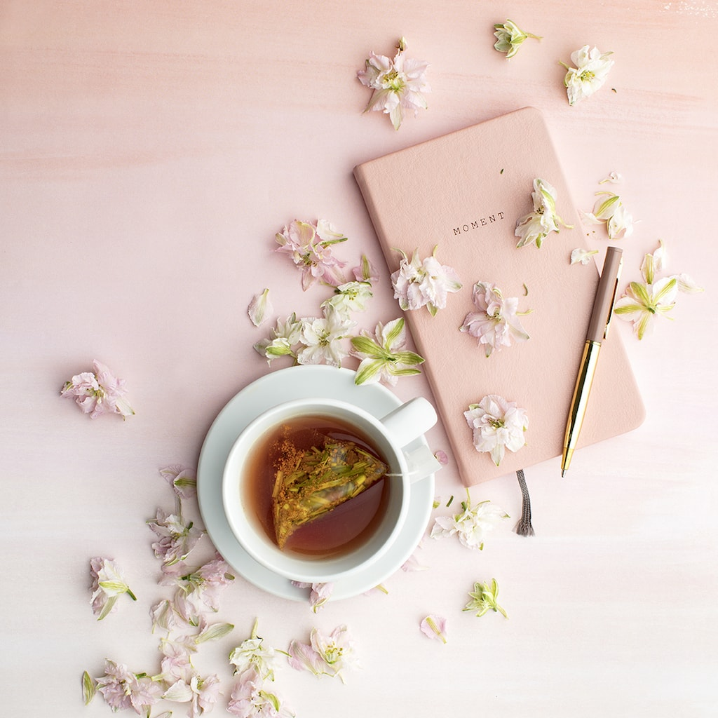 tea and journaling - self-soothing