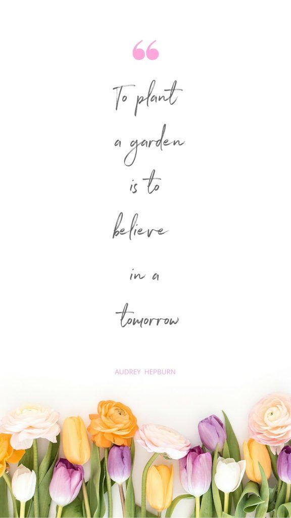 Audrey Hepburn Spring Bucket List Quote