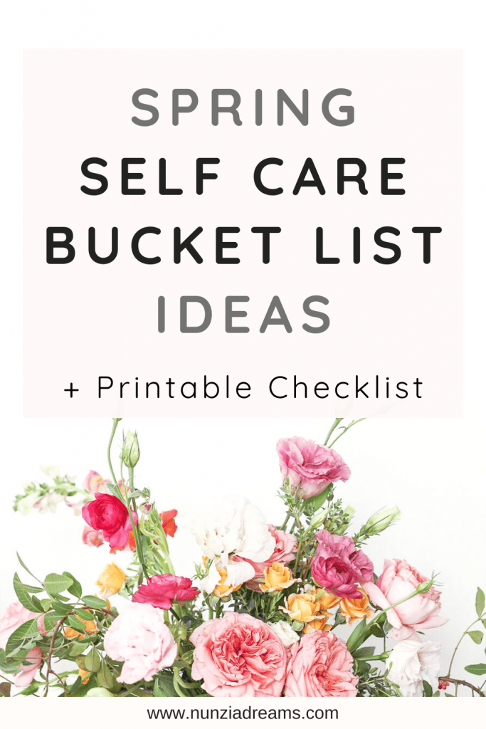 Spring Self Care Bucket List Challenge + Printable Checklist