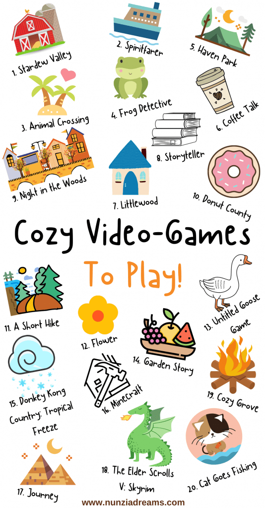 Cozy Games to Play for Stress Relief